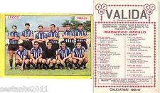 FIGURINA PANINI 1966 1967 LECCO , SQUADRA CALCIO, FOOTBALL, OTTIMA , -A128