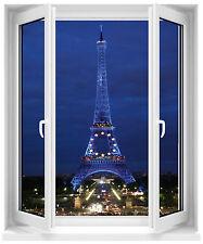 Sticker fenêtre Tour Eiffel la nuit 50x60cm réf F509