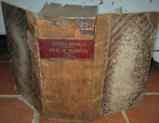 VERY RARE Antique 1881 JOURNAL & BILLS HOUSE OF DELEGATES West Virginia WV THICK