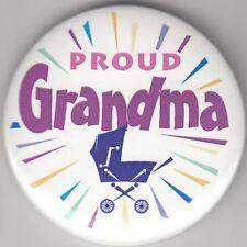 "Proud Grandma! Birth Announcement Button Pin, 2"" x 2"", New, Pin Back"