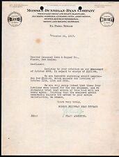 El Paso TX 1917 Hardware Guns Plumbing Momsen Dunnegan Ryan Co Letterhead Rare