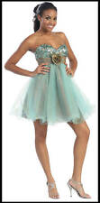 SALE ! NEW SHORT PROM DRESSES COCKTAIL GRAD PARTY STRAPLESS HOMECOMING CRUISE