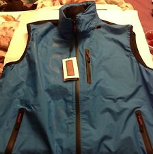 Burberry Sport Vest Electric Blue W/ Black Mesh Back Brand New NWT Sz XL