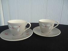 2 vintage retro royal doulton angel wings tea cups & saucers d6451