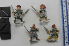 4 WITCH ELVES Metal MM70 Dark Elf Aelf Aelves Army Marauder Warhammer 1980s PD5