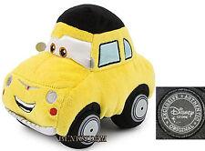 "CARS 2 Movie LUIGI 59 Fiat 500 Bean Bag Plush 7"" CAR Toy Disney Store Exclusive"