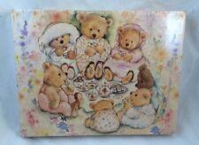 Vintage FACTORY SEALED Springbok Puzzle Hallmark MARY'S BEARS Tea Party Picnic