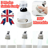Moveable Kitchen Faucet Head Universal 360 Degree Rotatable Tap Water Sprayer UK
