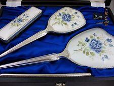 Solid Silver Mirror & Brush Set marchiato London 1979