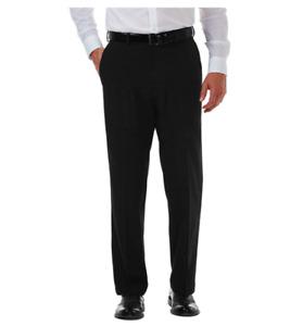 Haggar Men's Cool 18 Pro Classic Fit Flat Front Pant (BLACK) ~SIZE~ 34 X 34