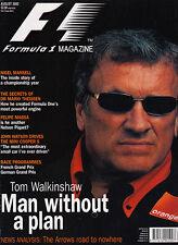 Formula 1 Magazine Aug 2002 - Nigel Mansell in '92,  Felipe Massa, Maserati