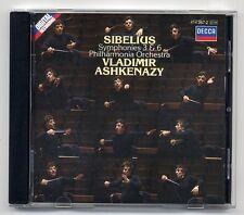 Sibelius CD Symphonie 3 & 6 Philharmonia Orchestra Vladimir Ashkenazy Decca 1985