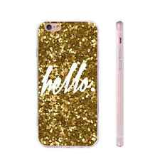 Gold Glitter Painting TPU Anti-skid Phone Case Cover for iPhone Samsung Huawei
