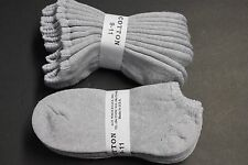 5 prs Low Ankle Cotton Socks 9-11 Solid Gray Casual Sports Cousion Sock