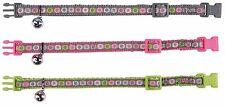 Trixie Nailon BONITO GATOS COLLAR REGULABLE CON CASCABEL 3 colours 41675