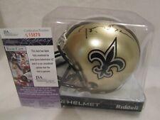 Saints Owner Tom Benson Autographed New Orleans Saints Mini Helmet – JSA Cert