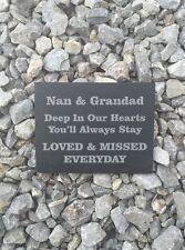 Personalised Slate Memorial Deep InOur Hearts Grave Headstone Garden Sign Plaque
