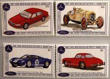 ANTIGUA BARBUDA 1993 1878-81 Block 274-75 Ford Ann Cars Autos Mercedes Race Cars