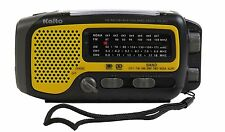 Used Kaito KA350 Solar Crank AM FM Shortwave Weather Radio Yellow