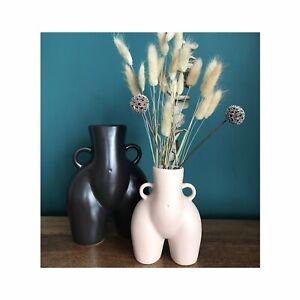 NUDE BEIGE 14.5cm Tall Peachy Bum Vase Flower Pot Love Handles Hips bottom Booty