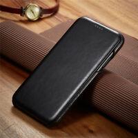 For Apple iPhone 11 Pro Max Luxury Genuine Leather Slim Flip Magentic Case Cover