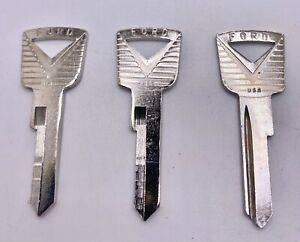 Ford Mercury Lincoln H27 Logo 1127DP Ignition keyblanks. (3 keys) Free shipping!