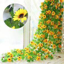 DIY Artificial Sunflower Garland Fake Flowers Ivy Silk Leaf Plant Home Decor