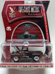 Yat Ming 1953 Ford F-100 Pick Up Truck Die Cast 1/64 Adams Lumber Factory Sealed