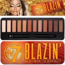 W7 BLAZIN' Neutro On Fire 12 Matt & Shimmer Powder Eye Colore Ombretto Palette
