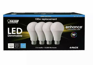 Feit Dimmable LED 5000K Daylight 4pack (100W Replacement) 17.5W