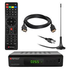 DVB-T2 FULL HD TV Terrestrischer Receiver RED Opticum H.265 HEVC LAN USB+Antenne