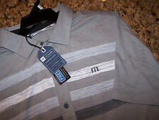 NWT - TRAVIS MATHEW WABASH BUTTON FRONT GOLF POLO SHIRT - PIMA/POLY - S - 1ML087