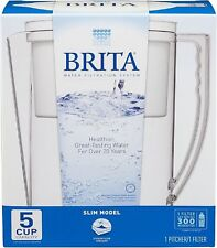 Brita Slim Water Pitcher and Filter White 5 Cup Water Filtration System NEW