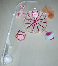 Circo UP WE GO Forest Animals Musical CRIB MOBILE Pink EXCELLENT!