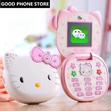 50% Off Cute Mini Hello Kitty Girl K688+ Quad Band Flip Cartoon Mobile Phone