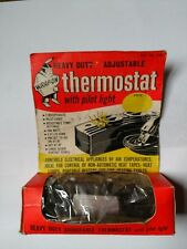 Vintage Wrap On Heavy Duty Adjustable Thermostat with Pilot Light - NOS