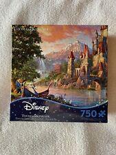 New ListingDisney Thomas Kinkade Beauty & The Beast Ii Dreams 750 P Puzzle Used