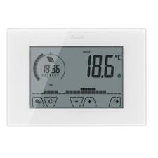 02910 Vimar Thermostat D'Horloge Murale Touch Blanc à Piles
