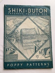 VINTAGE SHIKIBUTON JAPANESE FOLDING BED PATTERN POPPY 1980 Shiki-Buton sewing