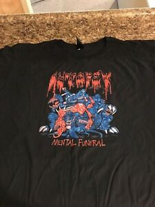 New AUTOPSY MENTAL FUNERAL T-shirt Black Men      S-4XL KL004