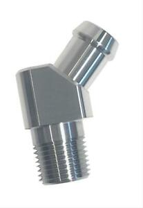 """Perf Stainless 1041 Fitting 45 Deg 1/2"""" NPT Male to 5/8"""" Hose Barb Stainless EA"""