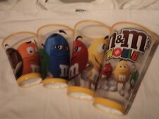 M&M'S WORLD 4 GOBLETS NEW 2017/2018 MADE IN U.S.A. ONLY!!!