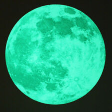 """Moon Glow in the Dark Moonlight Large DIY Wall Stickers Home Decor  19.6"""""""