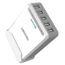 USB Wall Charger TeckNet Desktop Charger DuoPower 40W 5-Port (5V 8A) USB Char...