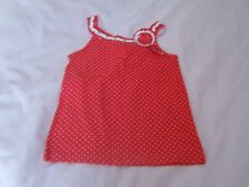 Mothercare top age 4-5 new red with white dots