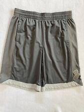 Under Armour Basketball Shorts Loose Heatgear Cool Grey Sz Xl