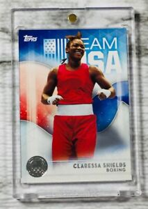 """2016 Topps USA OLYMPIC """"T-REX""""! CLARESSA SHIELDS """"SILVER"""" RC ROOKIE CARD! UFC!📈"""