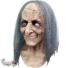Adult Hagatha Witch Old Hag Blind Horror Halloween Latex Full Head And Neck Mask