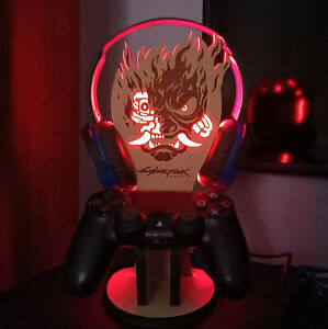 Cyberpunk Led Lighting Headphones Stand & Controller Holder for PS4, PS5,Xbox