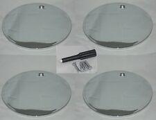4 CAP DEAL CHROME WHEEL RIM CENTER CAPS NO LOGO W/ LOCKS 99-02106 50914 MH2160